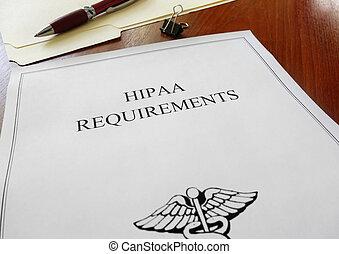 hipaa, exigences