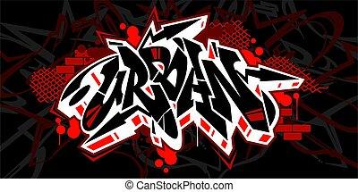 Hiphop Graffiti Style Word Urban Vector Typography Illustration
