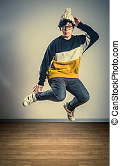 HipHop Jumper - Hip Hop girl dancer wearing glasses and a...