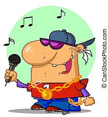 HipHop Singer - Caucasian Rapper Dude Singing