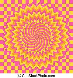 hipnótico, seamless, padrão