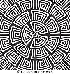 hipnotikus, háttér., vektor, ábra