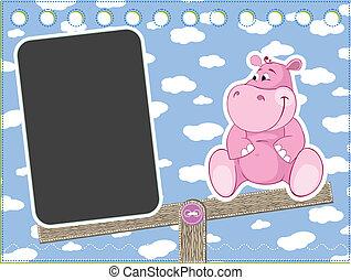 hipopótamo, balanço