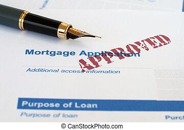 hipoteca, aplicação