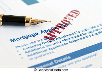 hipoteca, aplicación