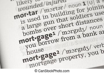 hipoteca, definición
