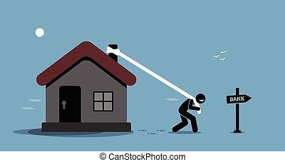 hipoteka, refinancing, loan.