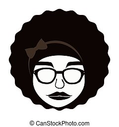 Hippie afro woman ,