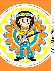 Hippie Boy & Flower