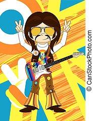 Hippie Boy with Guitar