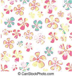 hippie, colorido, flor, fondo.