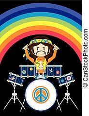 Hippie Drummer & Rainbow