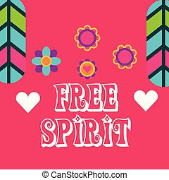 hippie feathers flowers hearts fashion free spirit