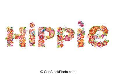 Hippie flowers letter