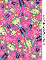 Hippie Girl Pattern