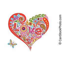 Hippie heart shape