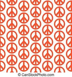 hippie, padrão, símbolo, paz, fundo, ícone
