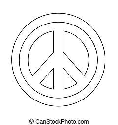 Hippie Peace Symbol icon