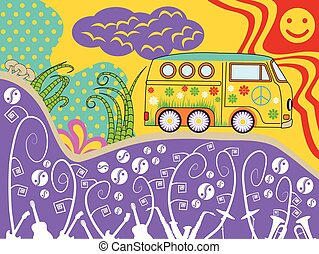 hippie van travel