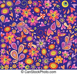 Hippie violet wallpaper