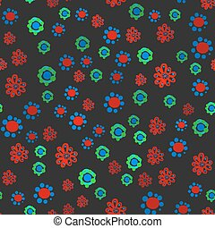 Hippie Wallpaper Funny Childish Stylized Colorful Flowers