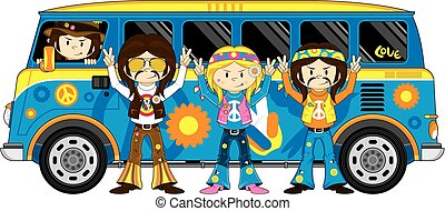 Hippies and Funky Bus