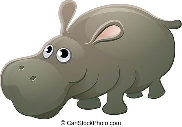Hippo Animal Cartoon Character