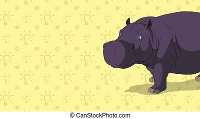 Hippo. English ZOO Alphabet - letter H - Animated English...