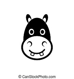Hippo head icon