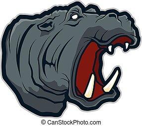 Hippo head mascot