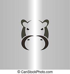hippo logo vector icon sign symbol illustration