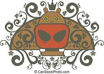 hippo - ornament hippo character pattern design.