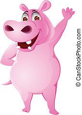 hippopotame, dessin animé