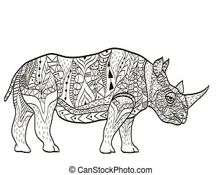 hippopotamus Coloring book vector for adults