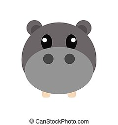 Hippopotamus head cartoon
