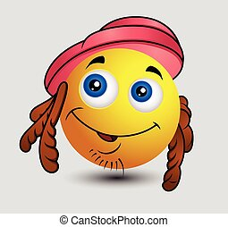 Hippy Emoji Smiley Emoticon