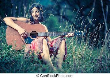 Hippy girl - 1970 style