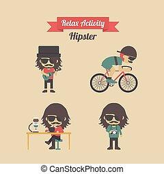 hipster, activité