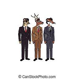 hipster animals design