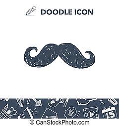 hipster  beard doodle