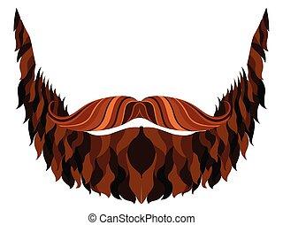 Hipster beard icon