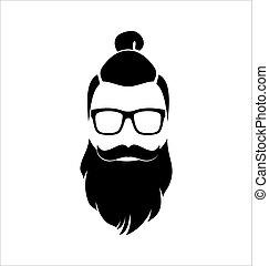 Hipster. Black and White.