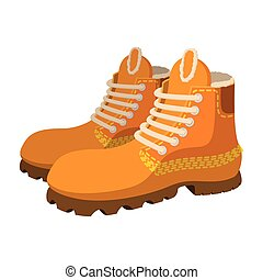 Hipster boots cartoon icon