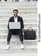 Hipster business guy