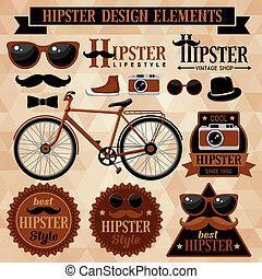 hipster, conjunto