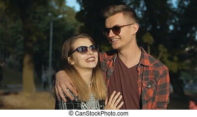Hipster Couple in the Park