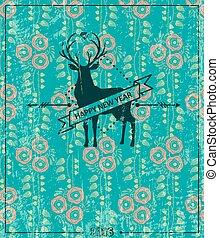 Hipster deer 2. Vector illustration