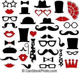 Hipster design elements, vector illustration