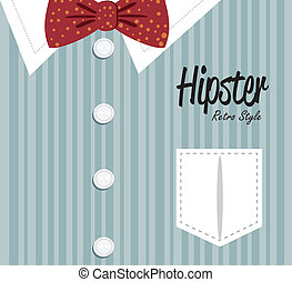 hipster design over lineal background vector  illustration