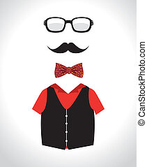 Hipster design over white background, vector illustration